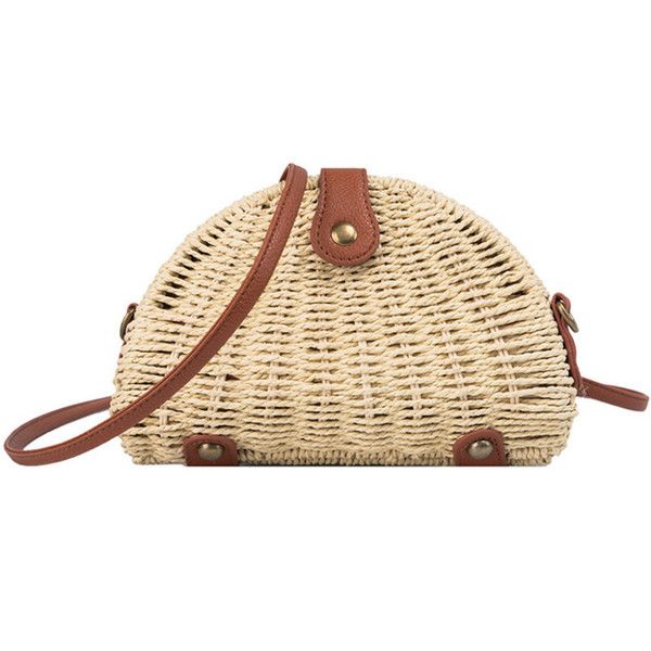 Woman Mini Weave Beach Shoulder Bags Ladies Bohemian Style Leisure Hand Bags bolsa feminina Bolso Mujer For Women 2019 New