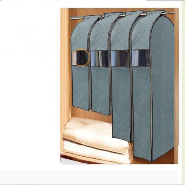 Wholesale- Large Capacity Cloth Hanging Suit Coat Dust Cover Wedding Dress Hanging Bags Organizer Storage Bag Wardrobe Storage Bag