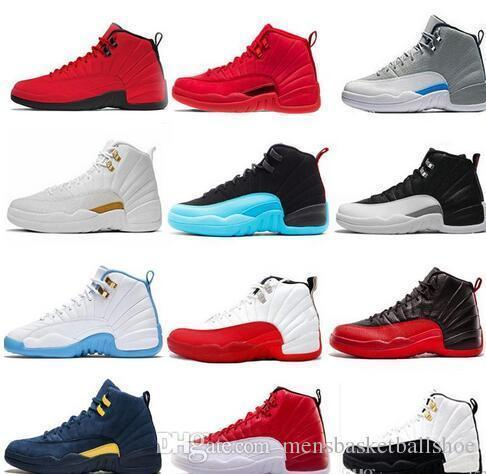 New 12 12s Mens Basketball Shoes Blue Gym Red Taxi Black White Playoffs Flu Game The Master Michigan Men Sport Sneakers