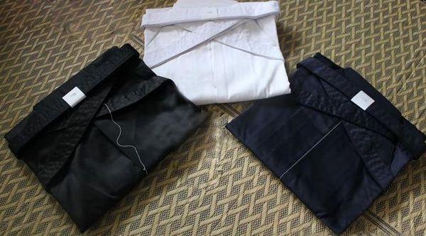 3colors UNISEX black/dark blue/white hakama Kendo uniform  hapkido trousers martial arts pants
