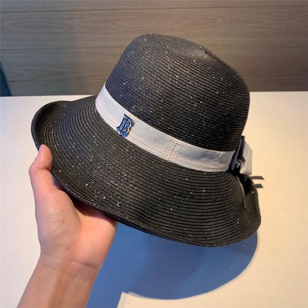 Women Summer Hat Beach Straw Hat Panama Ladies Cap Fashionable Handmade Casual Flat Brim Bowknot Sun Hats for Women