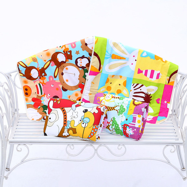 Baby Waterproof Infant Bed 3-layer Mattress Urine Pad Diaper Cartoon Printed Mat Sheet Cotton Changing Pad Nappy Random Color