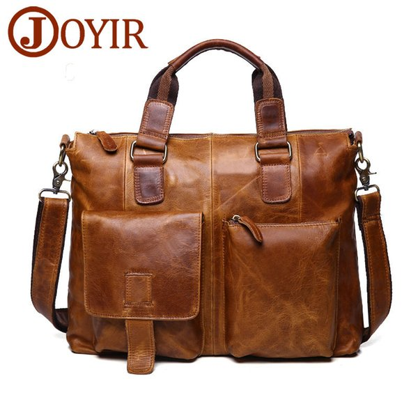 New Fashion Genuine Leather Shoulder Bags Men Messenger Briefcase Laptop Office for Busniess Handbag tote vintage famous designers Factory