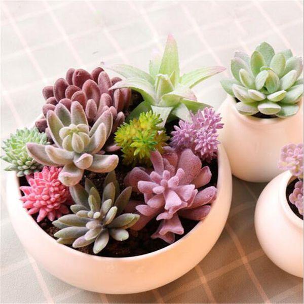 vente en gros Vivid Simulation Faux Plantes Succulentes Multi Couleurs Plante Artificielle Pour La Maison Intérieur Jardin Décor Tropical Cactus