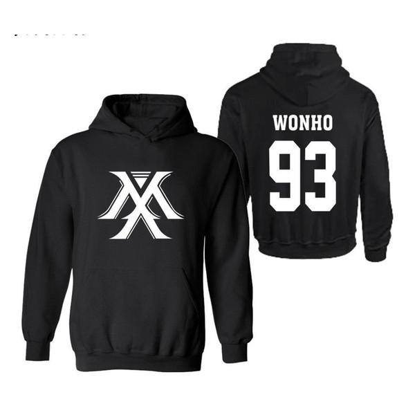 Fashion Monsta X Mens Hoodies And Sweatshirts Print Black Cotton Plus Size Hoodies Men/women Clothes Xxxxl