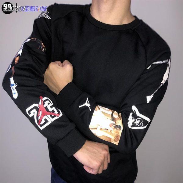 AJ 2019 Brand New Fashion Men Sportswear Print Men Hoodies Pullover Men/Women Hip Hop Hoodie Mens tracksuit Sweatshirts