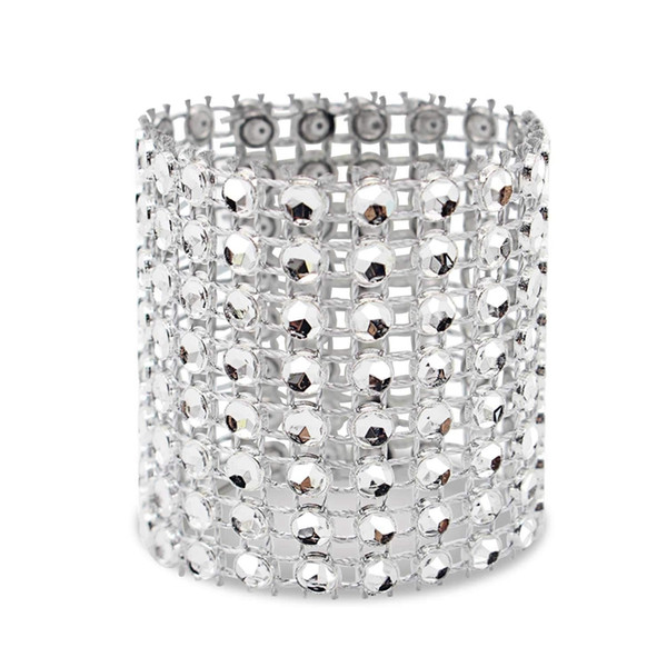 Napkin Ring, 120 Pieces Of Napkin Ring Diamond Decoration, Suitable for Placement, Wedding Reception, Dinner or Holiday Party,