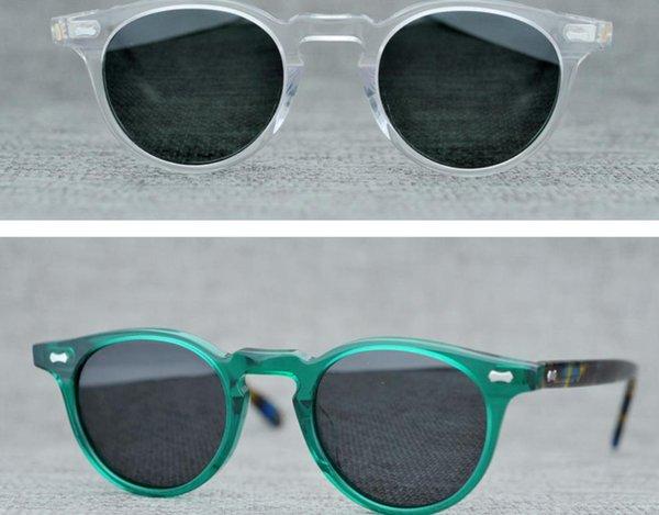 Men Polarized Sunglasses Women Round Vintage Sunglasses Brand Handmade Sun Glasses Samll Frames Sunglasses Travel Oculos with Glasses Box