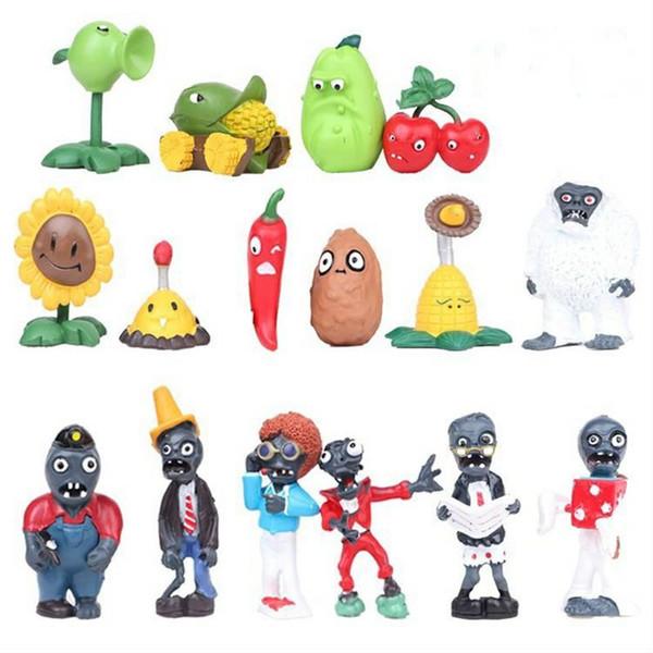 Plants vs Zombies Figures PVC 90pcs/lot PVZ Kids Boys Collectable Model Cartoon Toys for Children 3-7cm