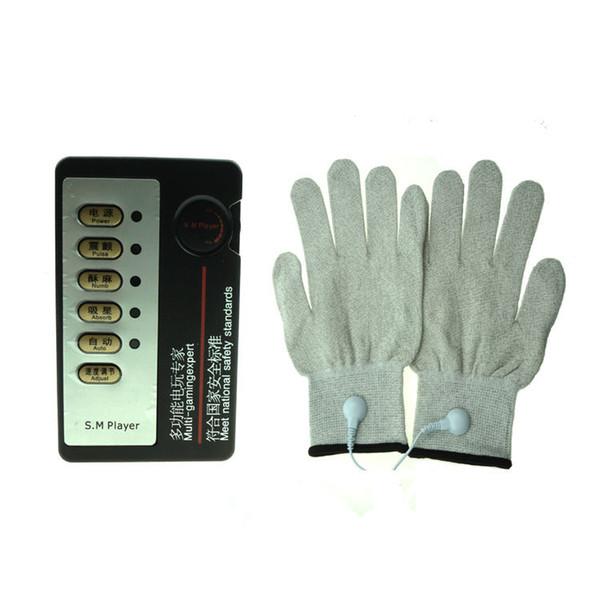 best selling BDSM Electro Sex Toys Electric Shock Gloves Bondage Gear Stimulation Torture Therapy Massage Kit Adult Games