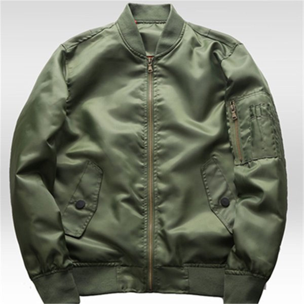Thin 2019 spring and autumn flight jacket plain jacket