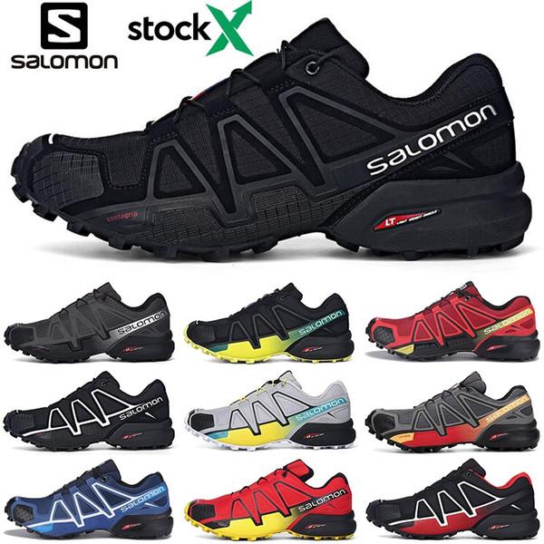 2020 Salomon 4s stock x Speedcross CS Hommes Chaussures de course Vitesse formateurs pour hommes en plein air cross sports athlétiques Chaussures de sport de jogging randonnée
