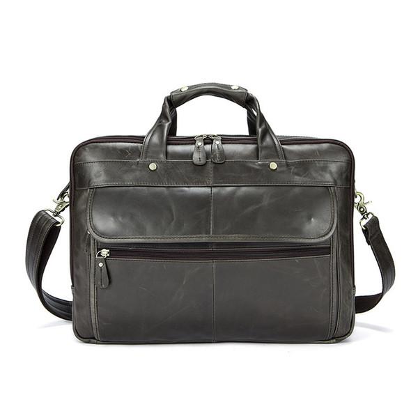 2018 Men Briefcase Messenger bag Leather male Handbag men's shoulder bag Genuine Leather Men's Bags man Vintage Crossbody Bags