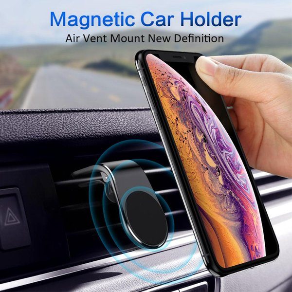 Cargador de coche inalámbrico Univesal Soporte magnético Paquete de soporte para teléfono del coche Soporte de imán en forma de L para montaje en ventilación de aire
