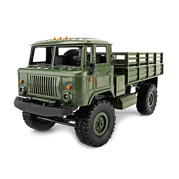 Wpl B -24 Gaz -66 Fai da te 1: 16 Rc Climbing Military Truck Mini 2 .4g 4wd Off -Road Rc Auto Off -Road Racing Car Rc Veicoli Rtr Gift Toy