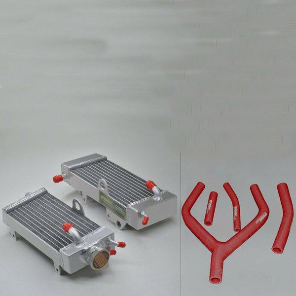 Manguera de silicona roja de radiador de aleación de aluminio para YAMAHA YZ250 1990-1991 / WR250 1991