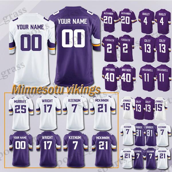 uk availability ab519 69b4d 2019 Custom Game Minnesota Viking Jersey 82 Rudolph 99 Danielle Hunter 28  Adrian Peterson 97 Everson Griffen 54 Kendricks 56 Doleman Jerseys Men From  ...