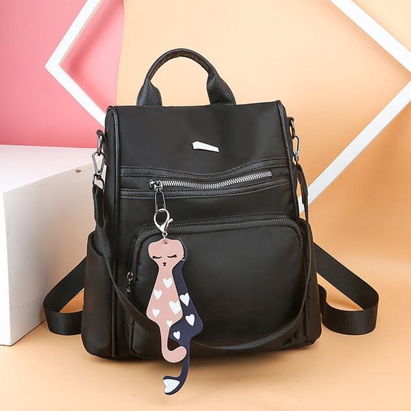 Oxford 2019 Cloth Street Beat A Bag Large Capacity Female Style Knapsack Can Both Shoulders Single Shoulder Dual-purpose Handbag Bags