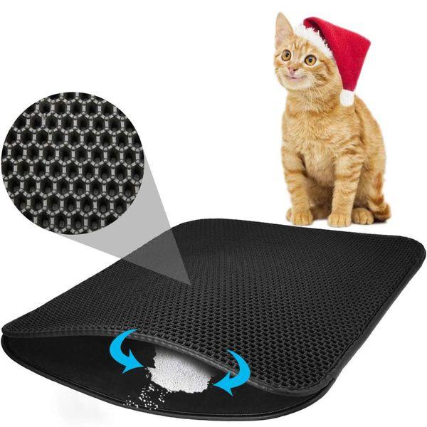 ELEG-Cat Matter Mat Trampa para colchonetas Honeycomb Doble capa Trampa impermeable y a prueba de orina para muebles / Ho
