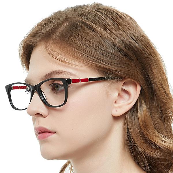 Fashion Clear Glasses Frames Women Radiation Protection Anti Blue Light Black Spectacle Frame Nerd Eyeglasses MARE AZZURO OC7064