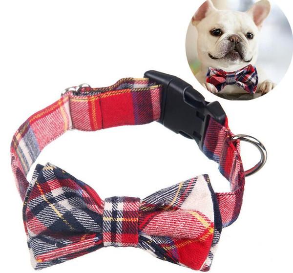 Pet Puppy Kitten Dogs Cat Adjustable Bow Tie Collar Necktie Bowknot Decor Bowtie Holiday Wedding Life Decoration Accessories GA656