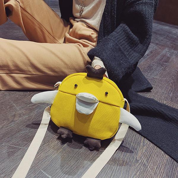 Women Messenger Bag Cute Bird Shape Shoulder Bags Female Canvas Fashion Casual Simple Personality Handbags High Quality Totes