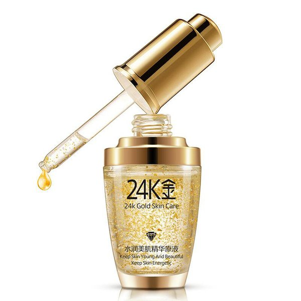 best selling 2019 BIOAQUA 24K Gold Face Cream Moisturizing 24 K Gold Day Cream Hydrating 24K Gold Essence Serum For Women Face Skin Care DHL free ship