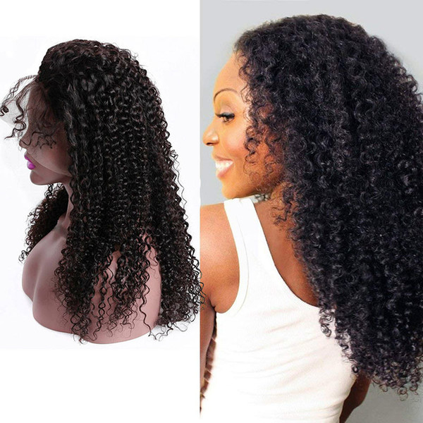 Malaysian 100% Human Hair Unprocessed Lace Front Wigs Middle Three Free Part Kinky Curly Lace Wigs With Baby Hair Ruyibeauty