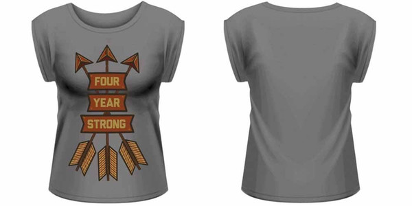 Dört Yıl Güçlü Oklar Haddelenmiş Kollu T-Shirt Kadın Damen ZİNCİRDE BoyutalICE