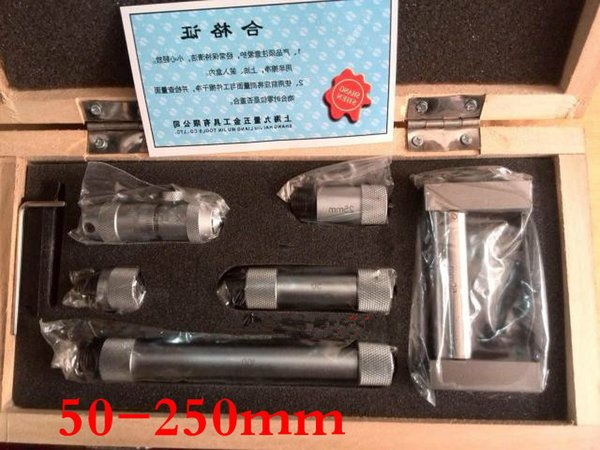 best selling Freeshipping Take over inside micrometer 50-250MM Precision is 0.01