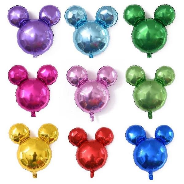 24inch Cute Mickey Balloons 24''Foil Aluminium Coating Ballons Funny&interesting toys Room Decor Birthday Xmas Halloween supplies kids favor