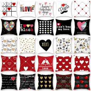 45*45cm Love letter Pillowcase 40styles Valentine's Day red heart Square Printing Pillow Case Printed Car Cushion Cover AAA1701