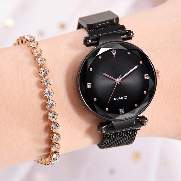 Korean Magnet Buckle Quartz Watches Femmes De La Mode Dames Creative Bracelet Simple Montre Casual Montre-Bracelet En Acier Inoxydable Cadeau Horloge