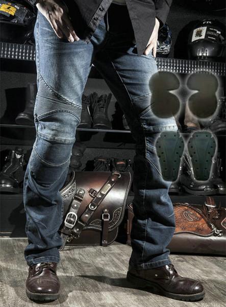 blue pants black pads