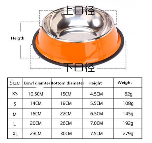 Stainless steel dog bowl sport travel Pet dog cat food feeder bowl Drinking Water Fountain pet bowl feeding tool cartoon style