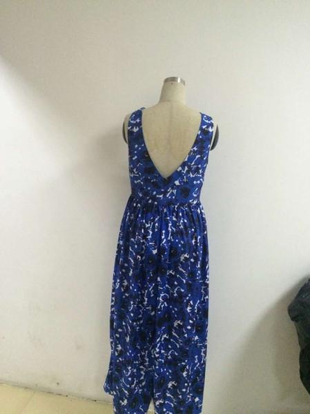 2019 vestidos de verano para mujer vestido largo sin mangas con cuello halter estampado faldas largas y grandes faldas de diseño de moda falda de fiesta ropa de mujer2