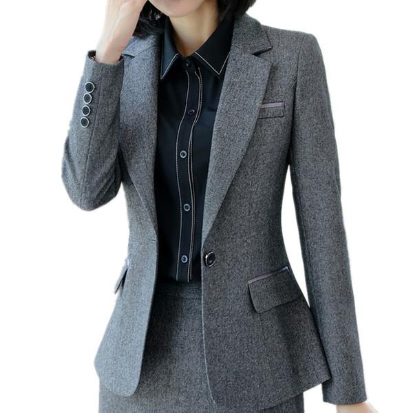 Jacke Dünne Damen Plus Kleidung Langarm Großhandel Herbst Mantel Business Arbeiten Von Büro Damenmode Interview Größe Blazer Formale Winter odCWQBeErx