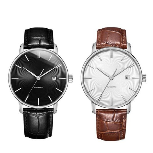 Xiaomi TwentySeventeen Automatic Mechanical Watch Men 5ATM Waterproof Sapphire Surface Ganuine Leather Strap