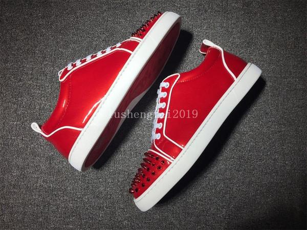 Son çıkan Moda Desiger Ayakkabı Lüks Kırmızı Alt Rahat Ayakkabılar 1Men Kadınlar Siyah Kırmızı Beyaz Gri Otantik Sneakers Spor Kırmızı sole fabrika yüksek
