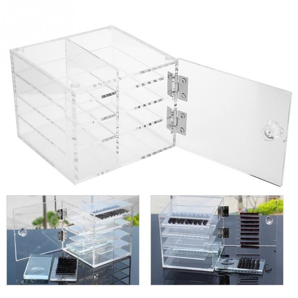 False Eyelash Extension Carrying Box Acrylic Storage Box 8 Layers Makeup Cosmetic Case Holder Transparent Jewelry Display 1
