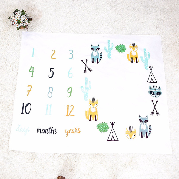 2019Puseky Newborn Baby Blanket For Photos Flower Background Photography Monthly Growth Milestone Numbers Props Stroller Cover baby Sheet