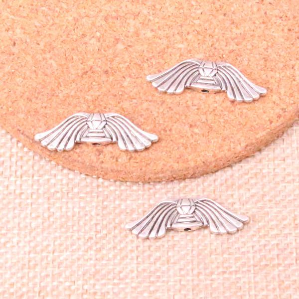 67 adet Antik Gümüş Kaplama melek kanatları boncuk Charms Kolye fit Yapma Bilezik Kolye Takı Bulguları Takı Diy Zanaat 10 * 30mm
