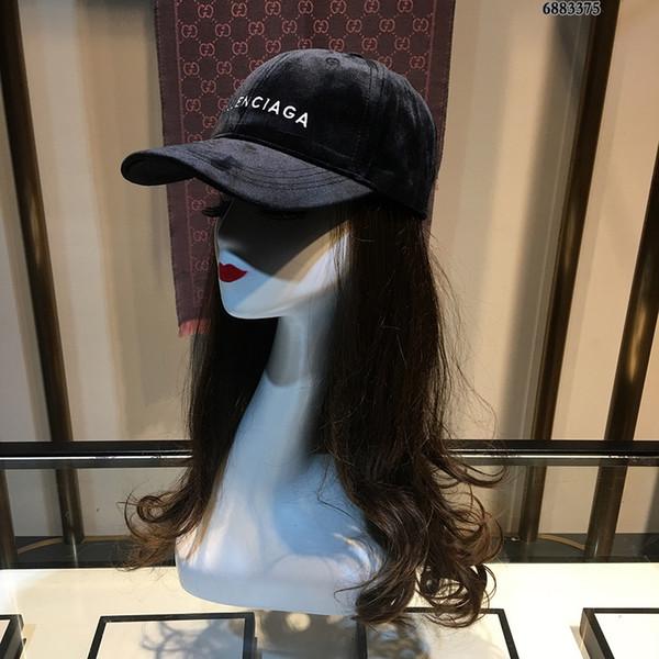DESIGNER hommes Chapeau Classique Mode Pure Black Casual Sports de plein air Casquette de baseball Tempérament Lettre simple broderie Hat
