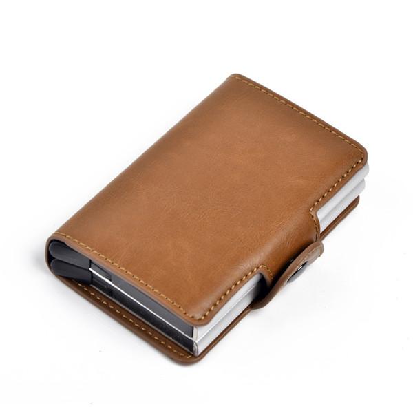 Business Hasp Mini Wallets For Men Fashion Hot Sale Black Smart Card Holder Men's Clutch Wallet Slim Money Bag Short Purse