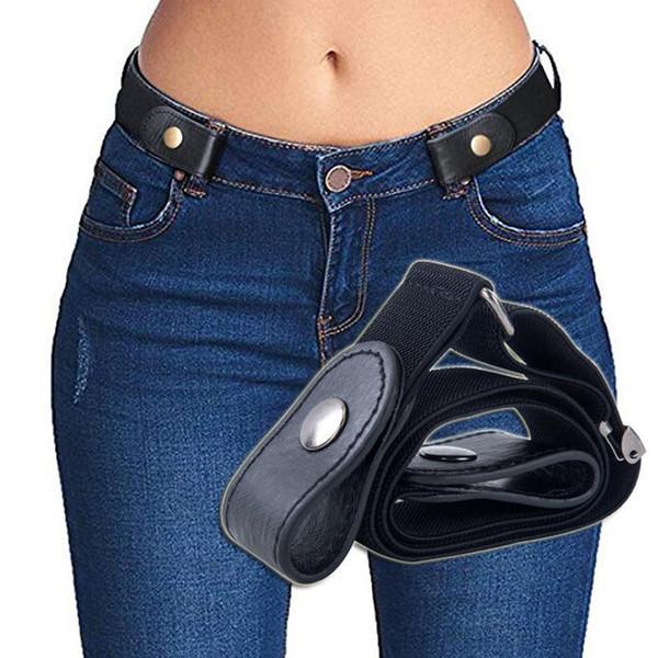 Boucle sans ceinture pour Jean Pantalons Robes Pas Boucle extensible taille élastique Ceinture Femmes / Hommes Pas Bulge No Hassle Generalsize taille