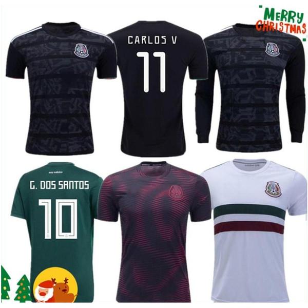 2019 Gold Cup Camisetas México 19 20 HOMENS MULHERES Soccer Jersey 2018 Chicharito LOZANO MARQUEZ DOS SANTOS camisa de futebol meninas camisa de futbol