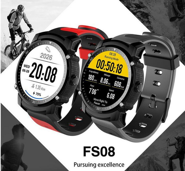 FS08 Bluetooth Smart Watch Waterproof IP68 Swim GPS Sport Fitnes Tracker Stopwatch Heart Rate Monitor Wristwatch for Android Free Shipping