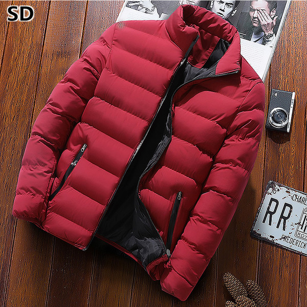 Mens Coats Jackets Thick men parka 2018 Casual Zipper Coats High Quality male Cotton-Padded Outwear chaqueta hombre invierno 789