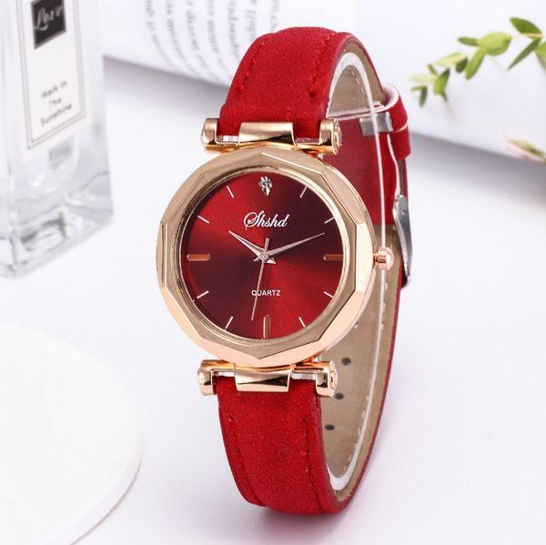 Fashion Women Leather Casual Watch Low-cost Analog Quartz Wristwatch Casual Clock Ladies Wrist Watch Girls Relogio Feminin