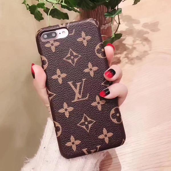 Роскошные дизайнерские чехлы для телефона для iphone xr 6 7 8 плюс модели моды PU кожаный чехол жесткий задняя крышка для Samsung Galaxy S8 S9 S10 NOTE8 NOTE9